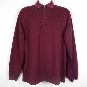 Grand Slam Shirt M Red Black Striped Golf Polo